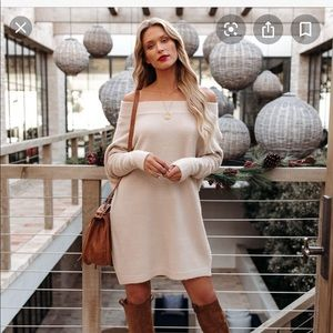 Vici Off the Shoulder Sweater Dress